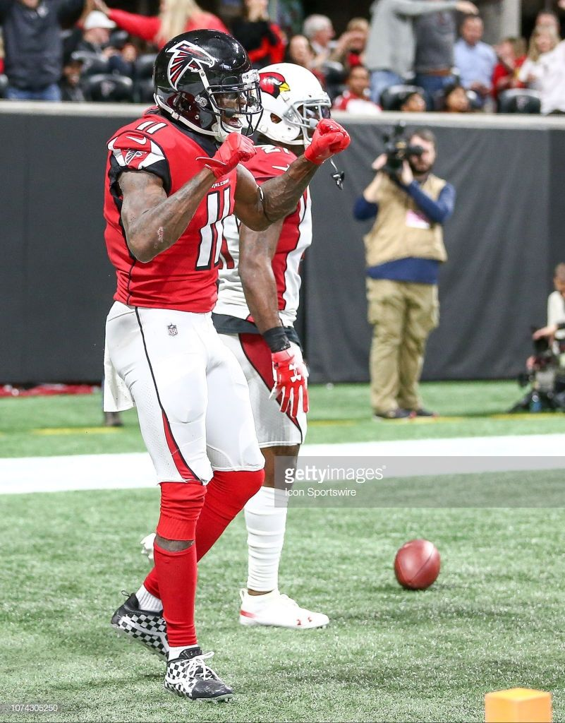 Atlanta Falcons Wide Receiver Julio Jones Celebrates His Touchdown Julio Jones Atlanta Falcons Atlanta