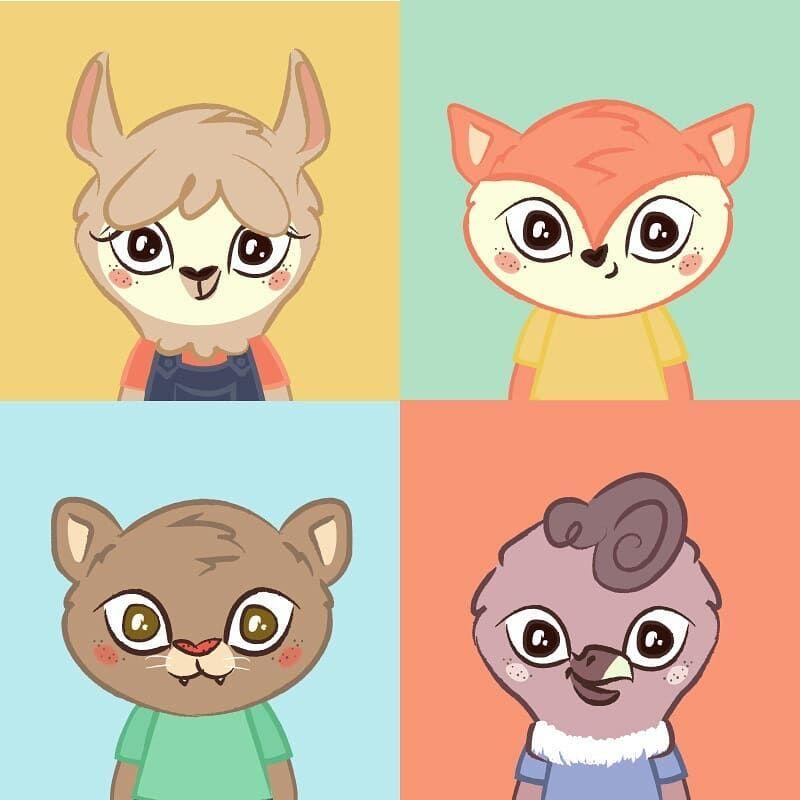 Personajes que hice para @guana.juguetes un proyecto hecho con mucho amor💛 . . . . . . #illustration #animals #cute #toys #color #fox #puma…