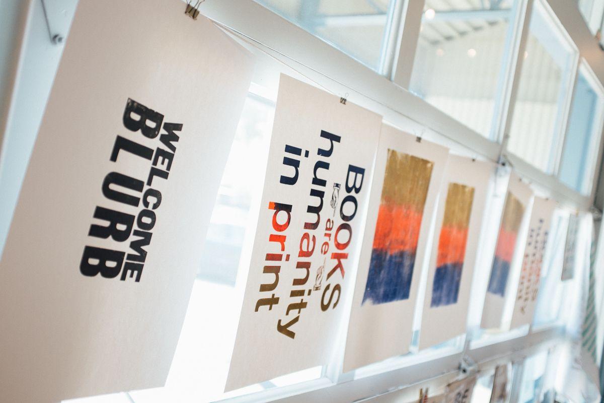 Letterpress prints drying #BlurbWorkshopSeattle #BlurbRoadshow