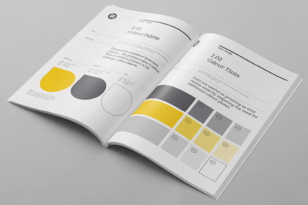 Brand Manual Template On Behance  Gd  Layout    Brand