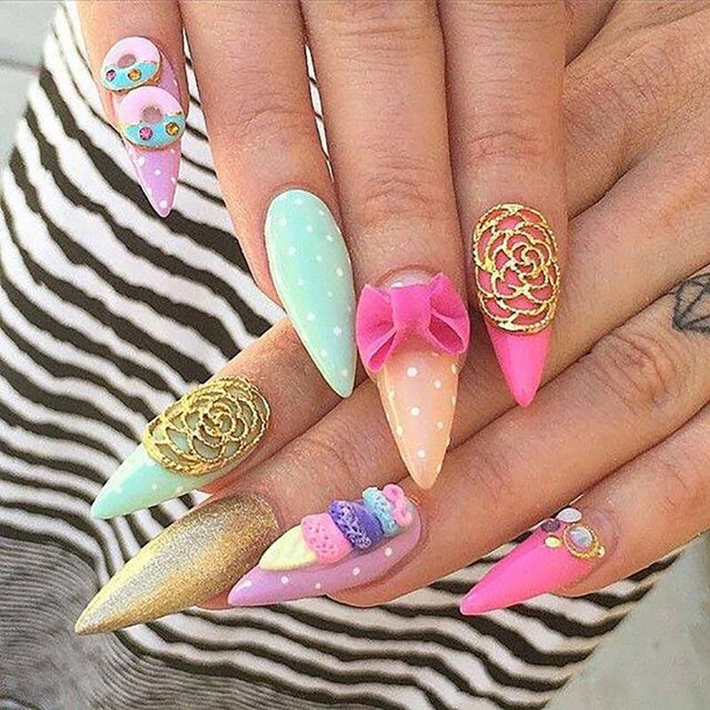 20 Worth Trying Long Stiletto Nails Designs | Pinterest | Long ...