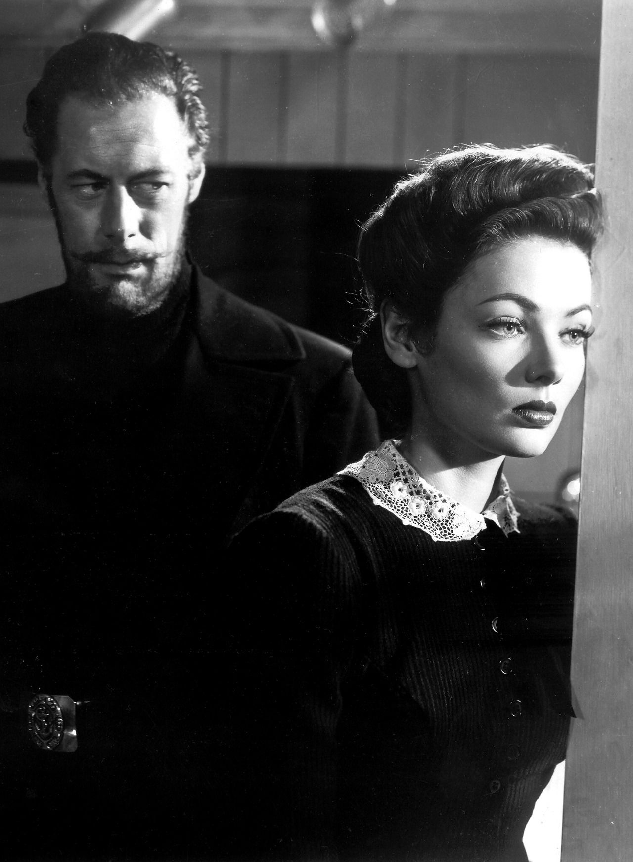 Rex Harrison ; Gene Tierney in The Ghost and Mrs Muir