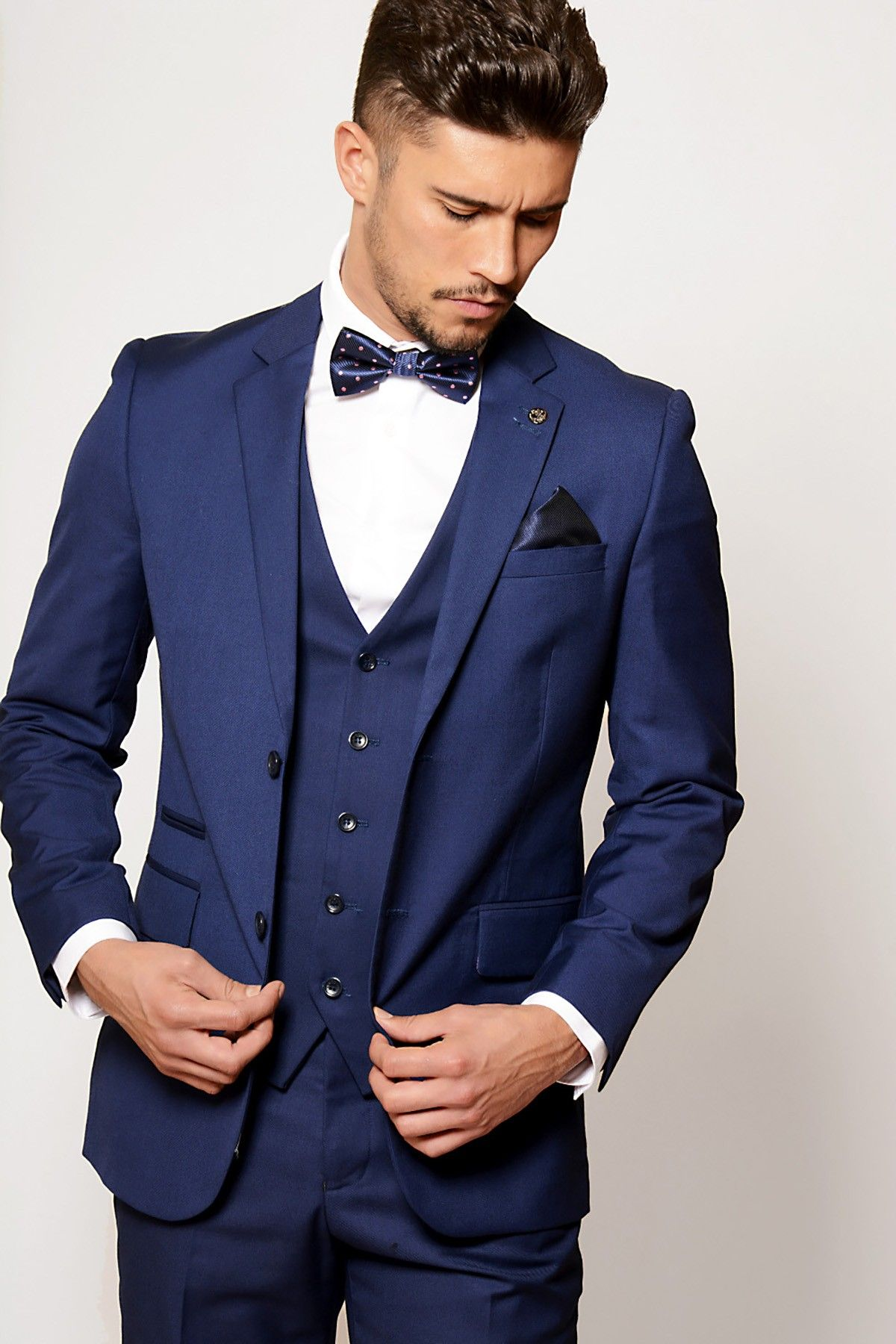Mens Suit | Cobalt | Blue | Evening | Three Piece Suit | Marc ...