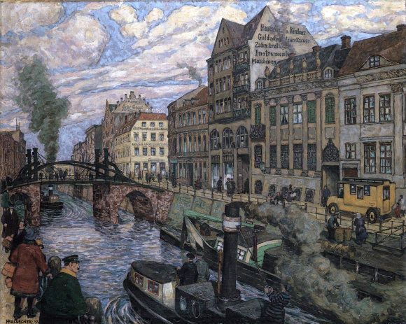 friedrichsgracht jungfernbruecke von hans baluschek hans baluschek pinterest bilderrahmen. Black Bedroom Furniture Sets. Home Design Ideas