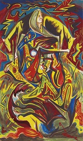 Jackson Pollock - Composition with Woman, c. 1938-41