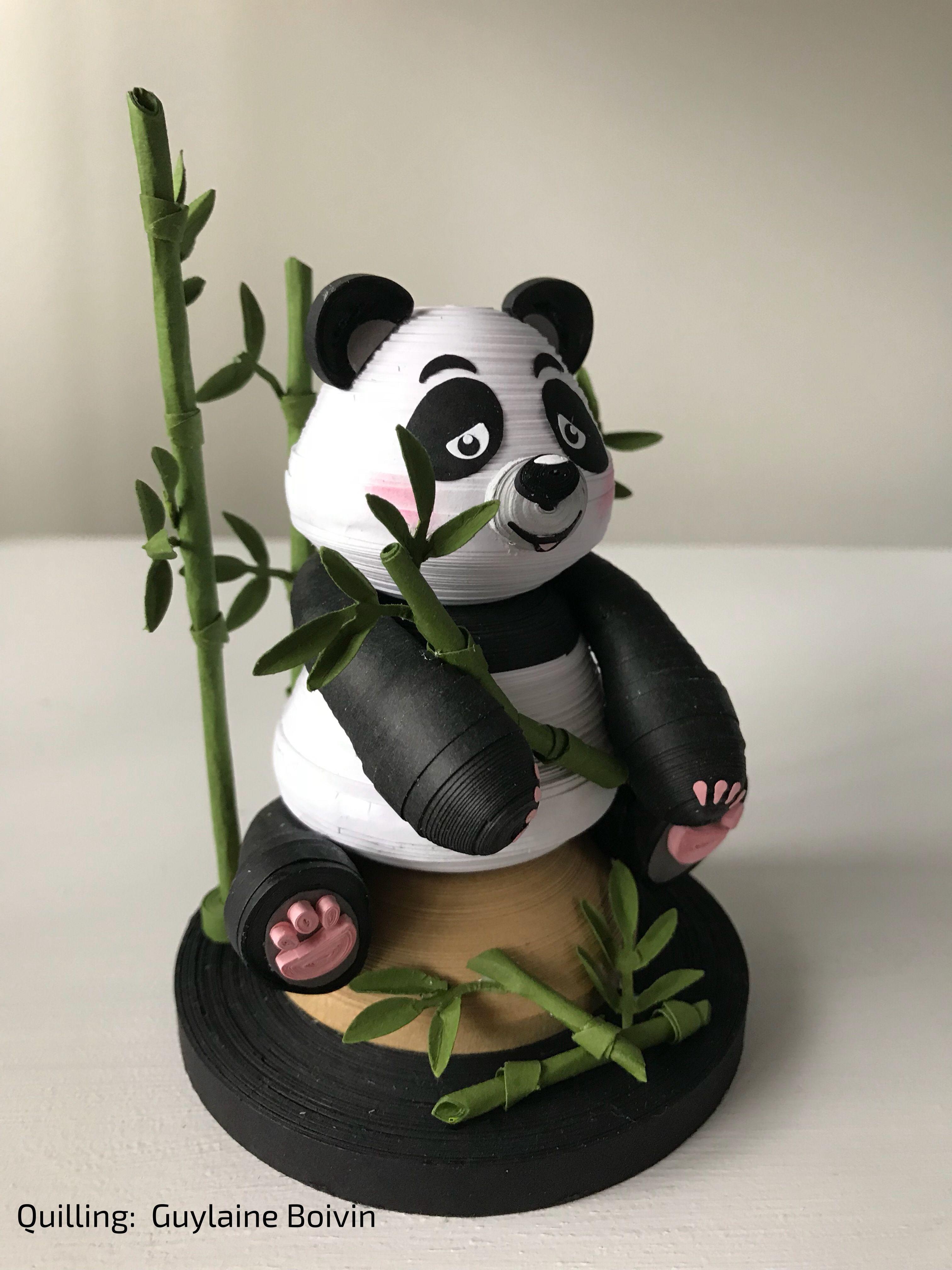 Quilling 3D Panda 112017 Quilling dolls, Quilling