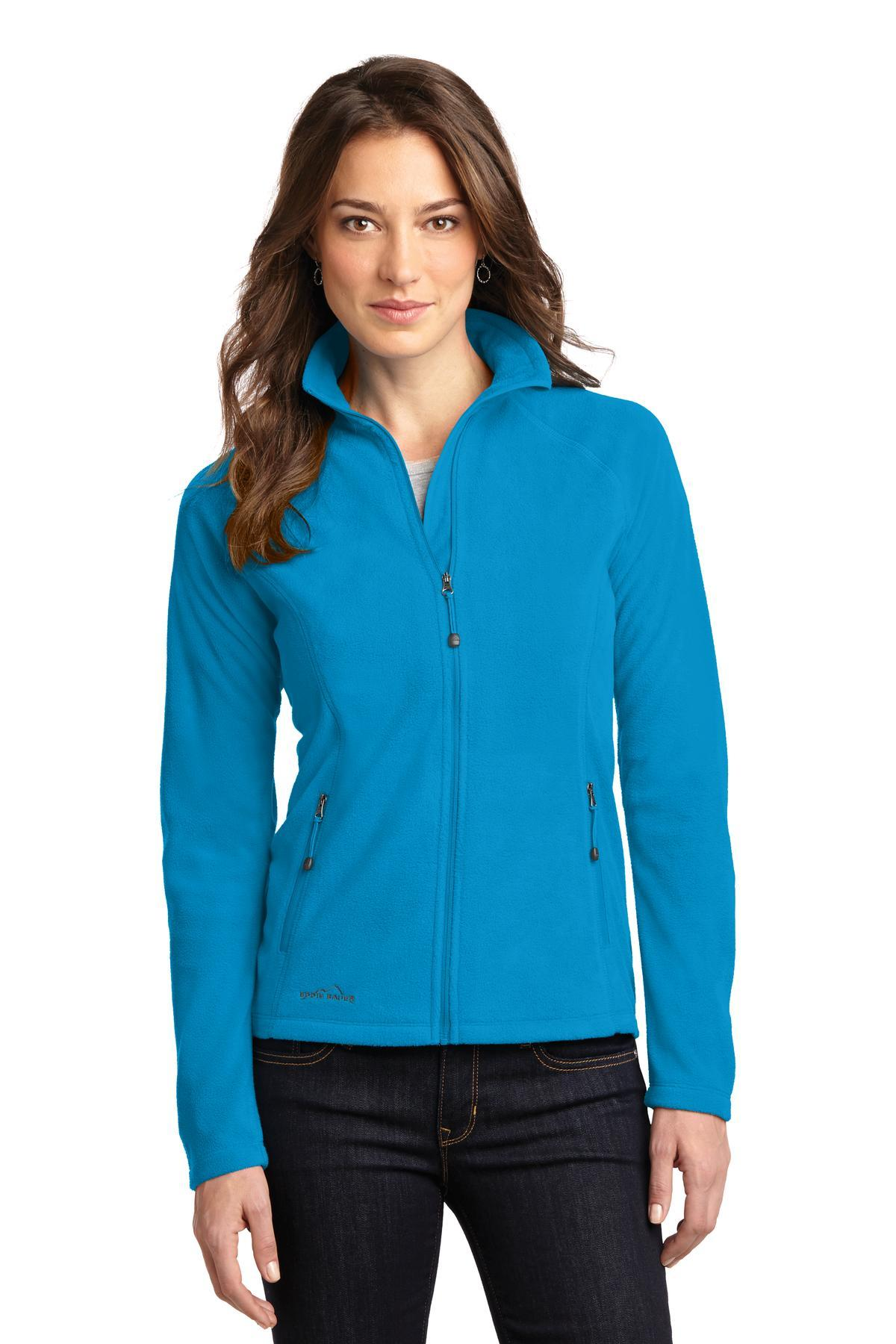 Eddie Bauer Ladies FullZip Microfleece Jacket EB225 Peak