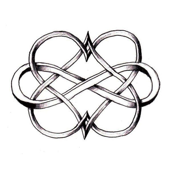Double Heart Infinity If I Ever Get A Tattoo Pinterest