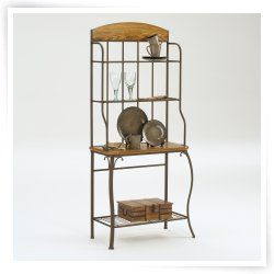 Lakeview Wood Accent Bakers Rack With Images Hillsdale