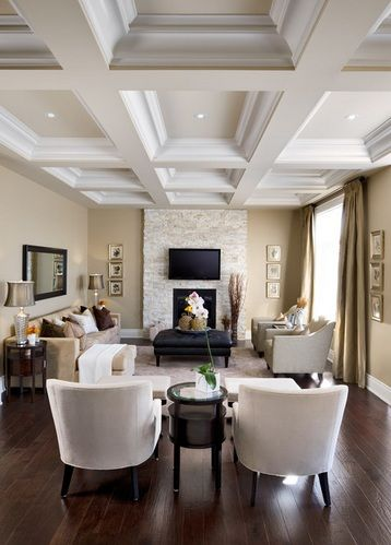 Coffered Ceilings Coffered Ceiling Ideas Narrow Living Room Living Room Designs House Design