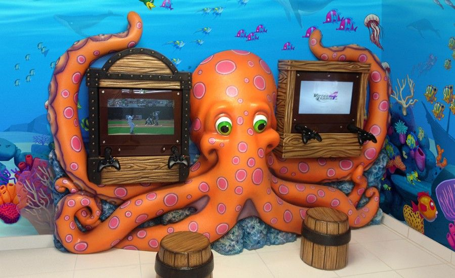 Underwater Themed Gaming Area in Dental Waiting Room