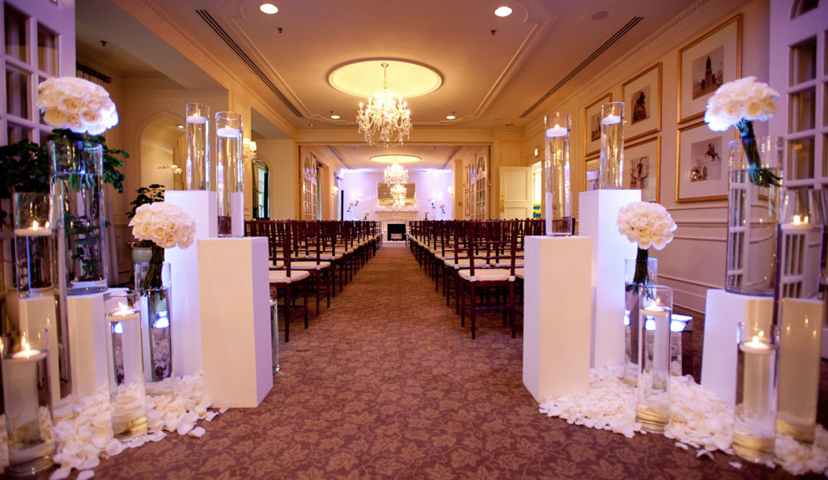 Wedding venue decoration ideas   Super Chic Wedding Reception and Ceremony Ideas From Edge Flowers