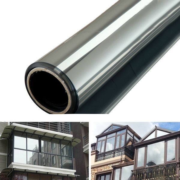 One Way Mirror Privacy Reflection 15 Tint Window Film Solar Energy Save 1m 50cm 2m 50cm Wish Mirror Window Film Window Tint Film Window Film