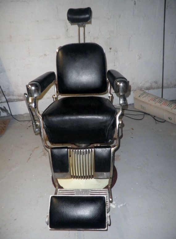 Vintage Belmont Barber Chair 1960s Now by HappyMemoriesVintage - Vintage Belmont Barber Chair 1960s Now By HappyMemoriesVintage