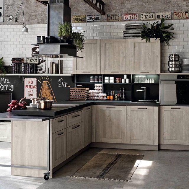 Industrial kitchen #ideas #Kitchen #industrial #Design