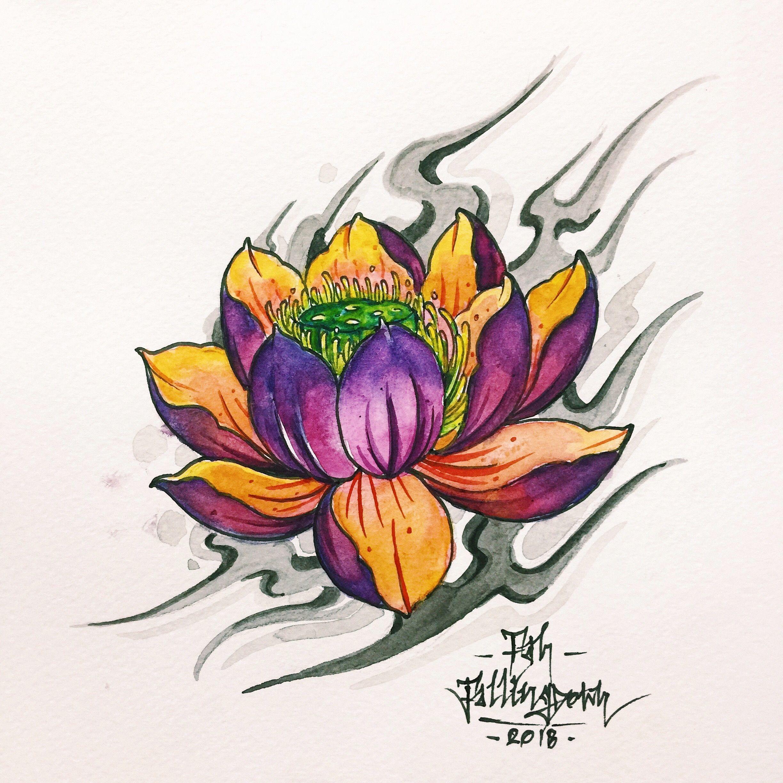 ป กพ นโดย Fah Siamrock ใน ดอกบ ว Lotus Tattoo รอยส กร ปดอกไม รอยส กร ป ดอกบ ว ดอกไม