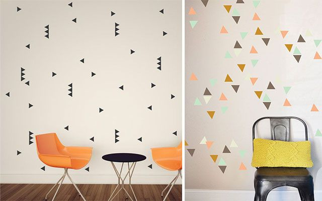 Hestia dise o geometr as decorar con triangulos hestia dise o pinterest decoracion de - Diseno de paredes pintadas ...