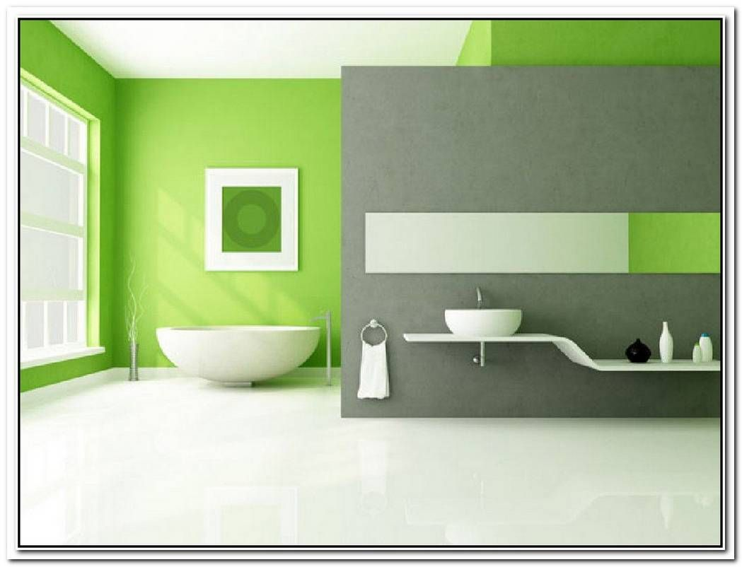 Accent Wall Bathroom Lime Green Lakberendezes