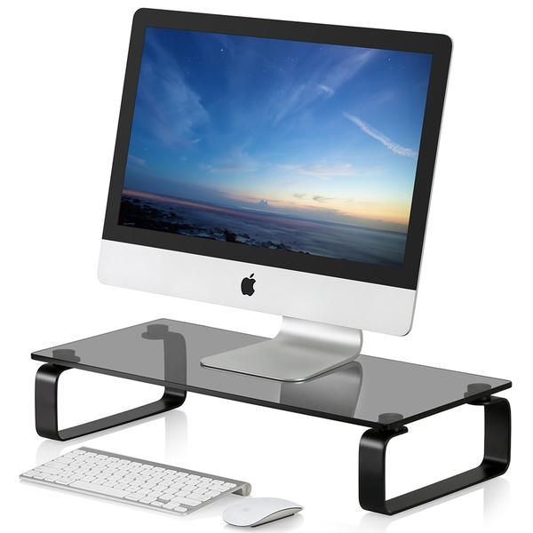 Computer Monitor Stand with 3 USB Ports,PC Laptop Stand Riser Shelf with Storage