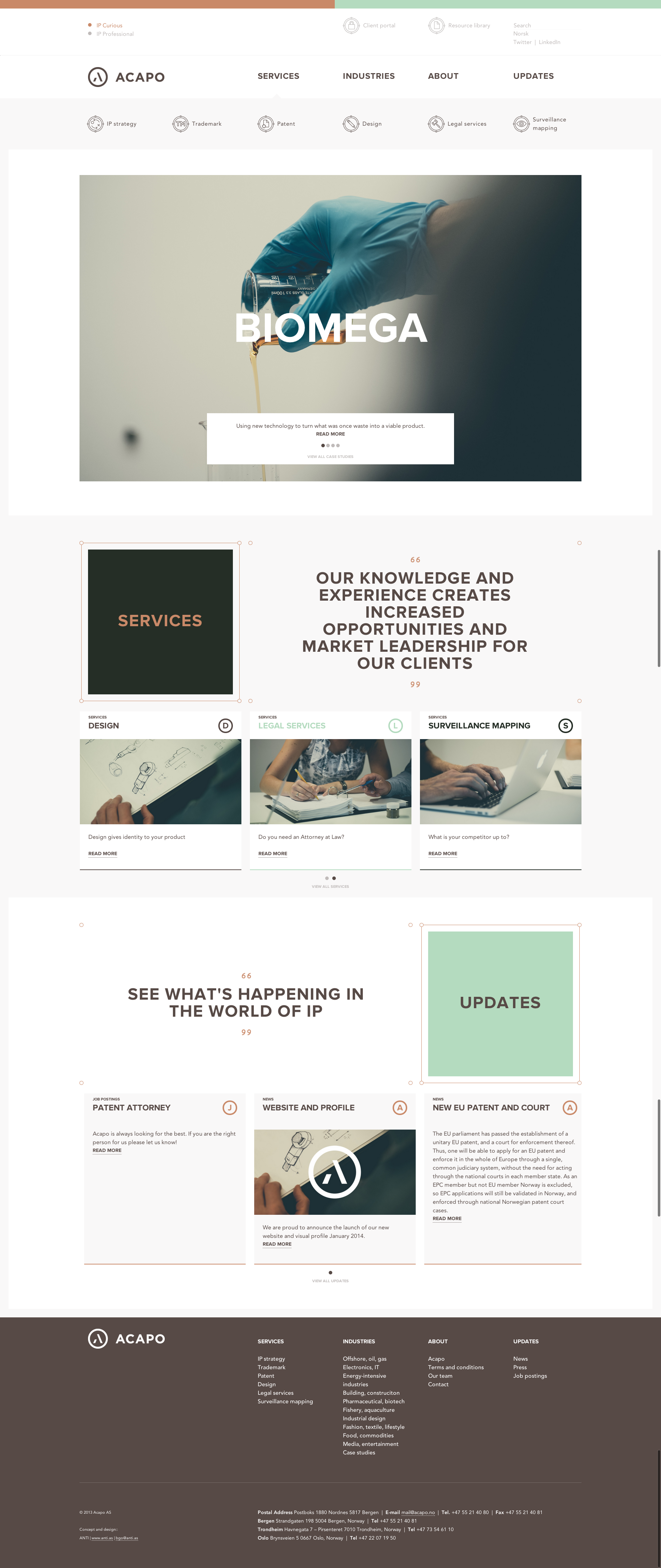 Acapo web webdesign flat layout pinterest