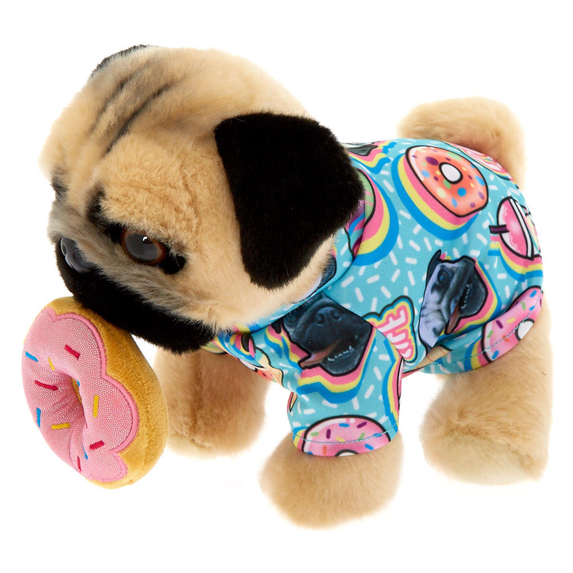 Claire S Doug The Pug C Donut Medium Plush Toy Cream Doug The