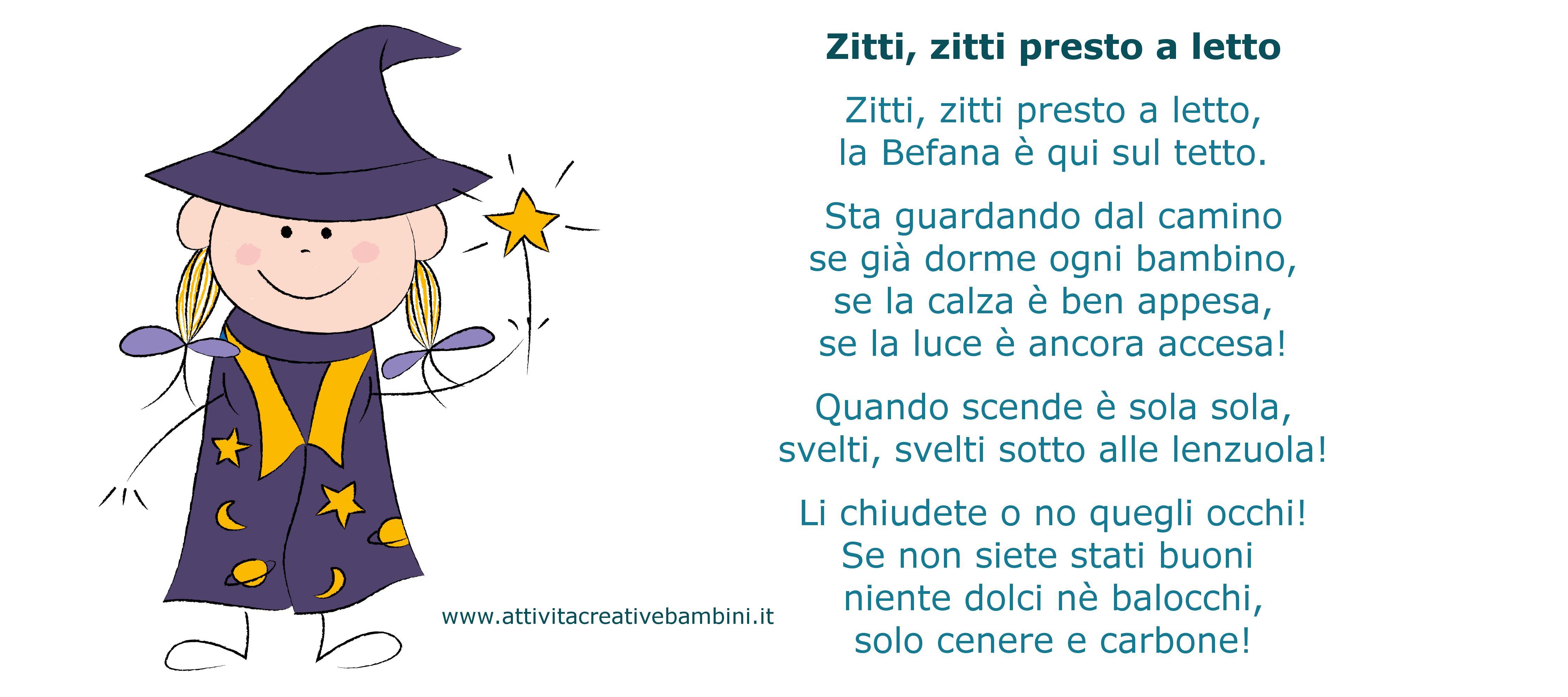 Poesie Di Natale In Dialetto Siciliano Per Bambini.Filastrocca Per La Befana Filastrocche Girotondi