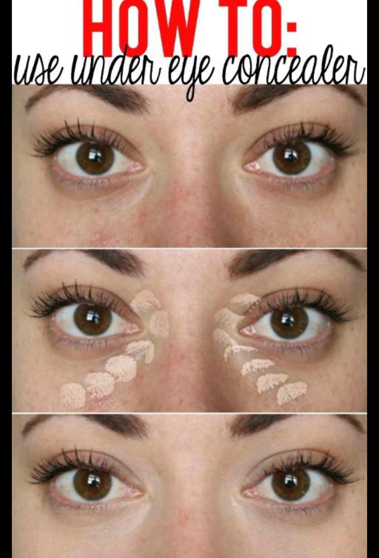 طريقة وضع الكونسيلر الكريمي كونسيلر Concealer Eye عيون Under Eye Makeup Concealer For Dark Circles Eye Concealer