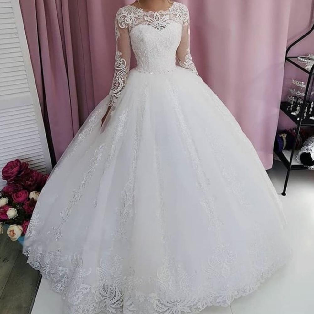 Robe De Mariage White Lace Applique Wedding Dresses Ball Gown Elegant Princess Boho Wedding Gowns Boho Wedding Gowns Wedding Dresses Applique Wedding Dress [ 1000 x 1000 Pixel ]