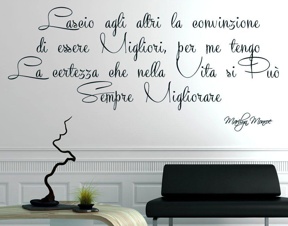 Adesivo murale wall stickers frase citazione marilyn monroe adesivi muralidecorazione interni - Scritte muri casa ...