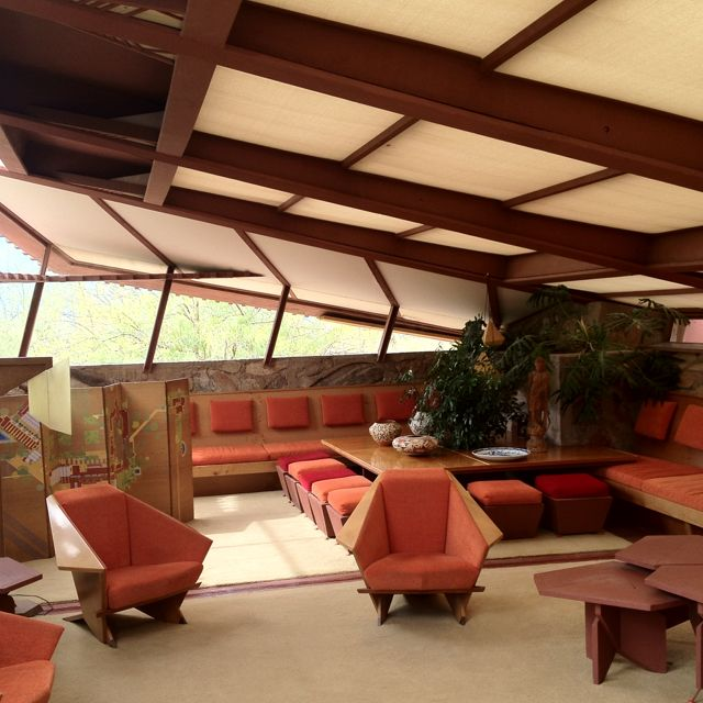 Frank Lloyd Wright, Taliesin West Interior, Constructed