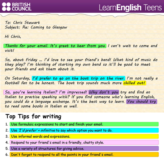 Writing an informal e mail english learning pinterest english an informal letter spiritdancerdesigns Images