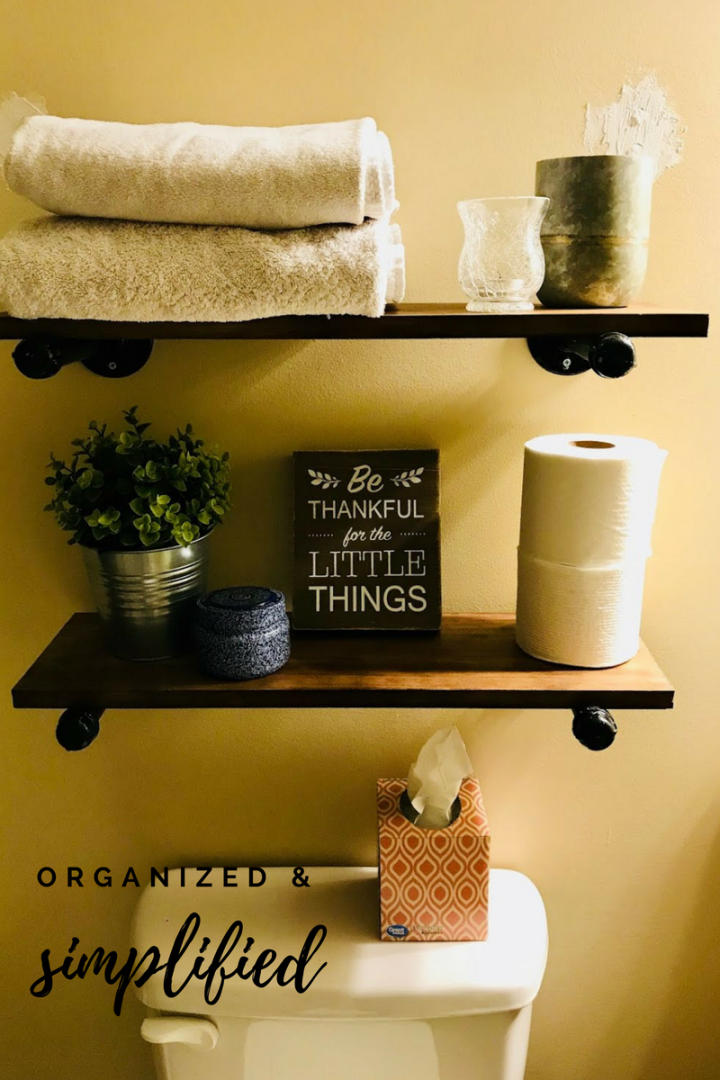 Creating Rustic Bathroom Shelves From Plumbing Pipes Organized