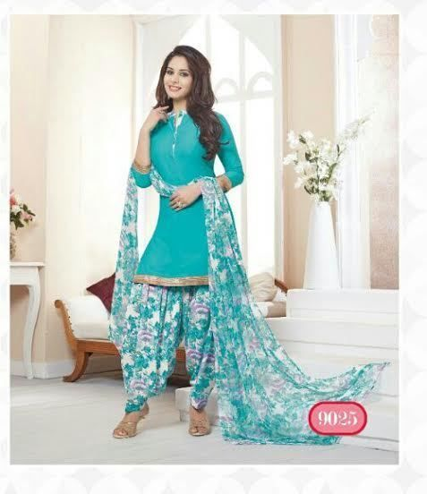 Salwar EDH Kameez Punjabi Suit Indian Ethnic Pakistani Unstitched Synthetic Crep #Varsha #SalwarKameez