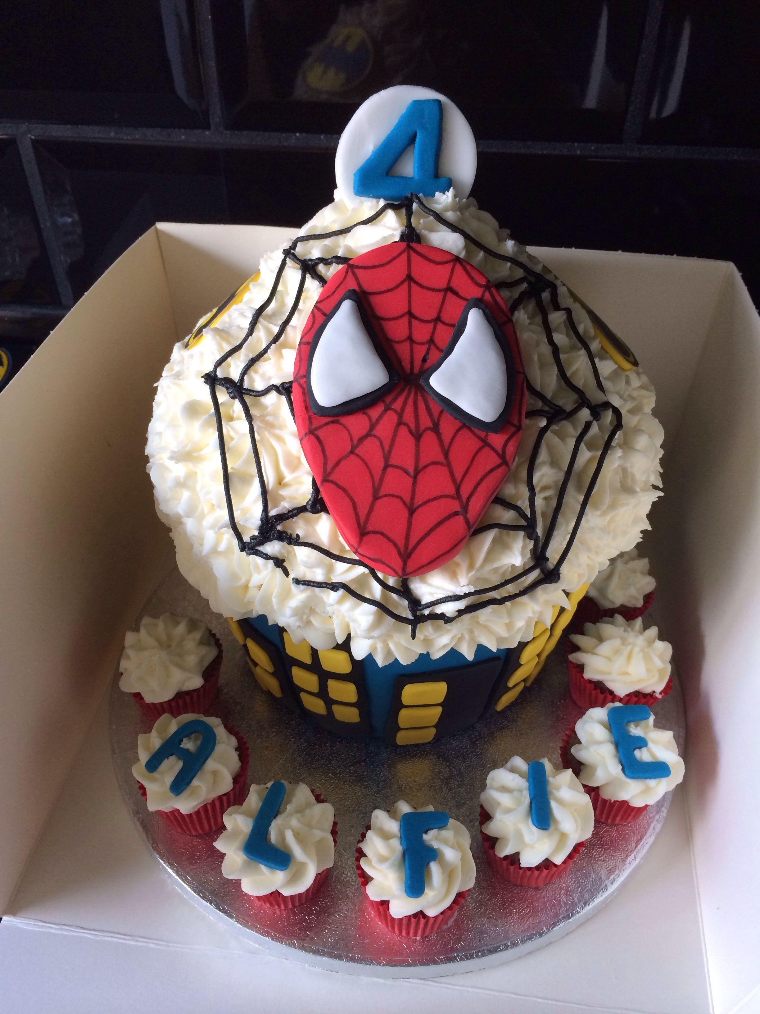 Spiderman Batman Giant Cupcake Kids Giant Cupcake