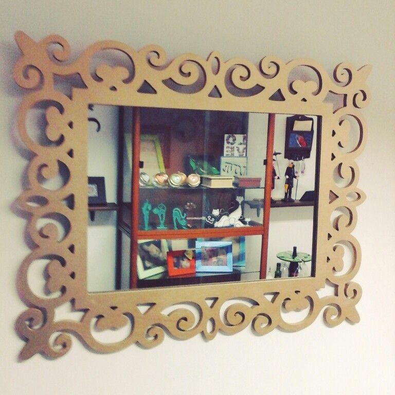 Espejo calado en MDF | ahsap objeler | Pinterest | CNC, Ideas para ...