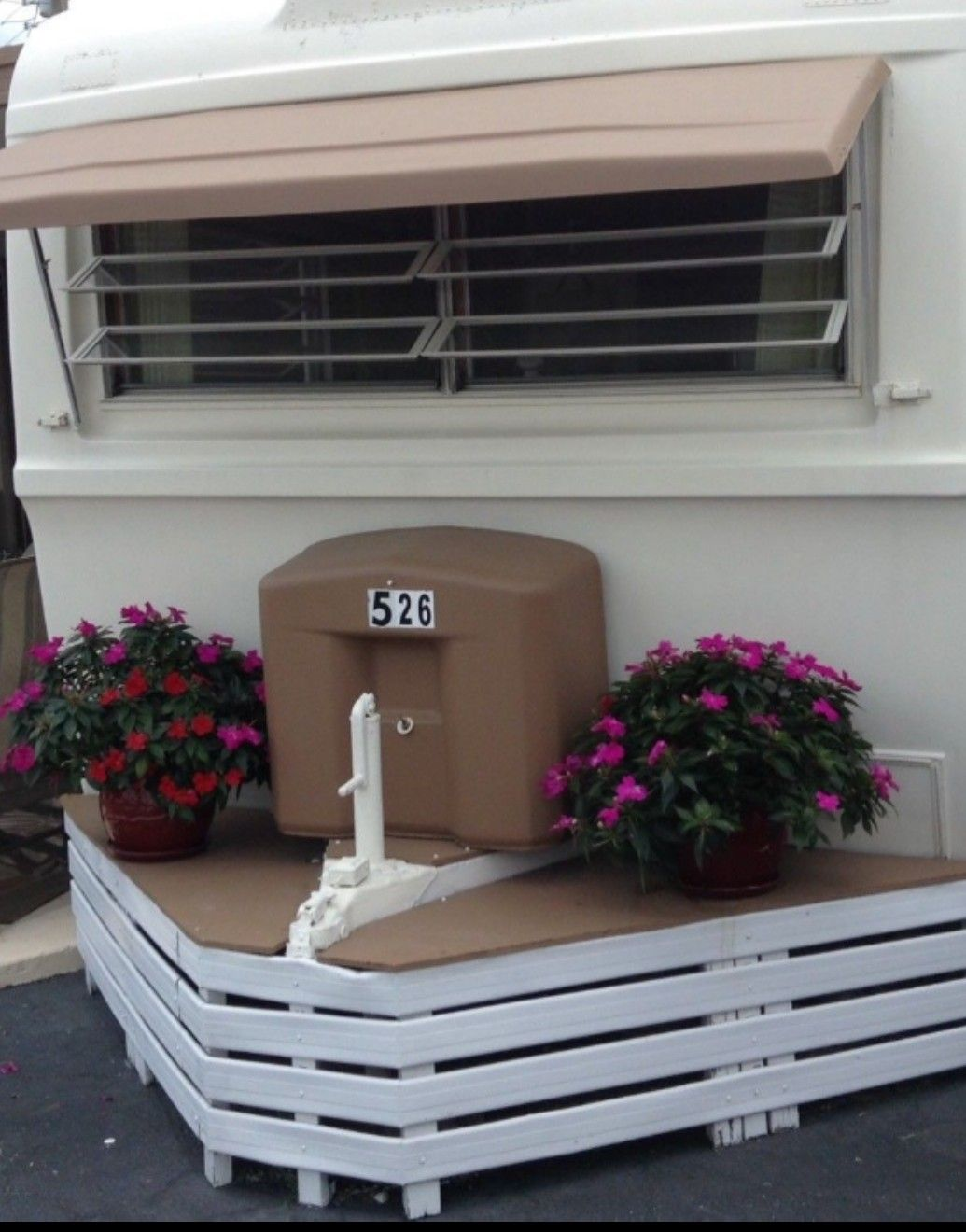 Hitch Cover Up With Images Trailer Patio Remodeled Campers