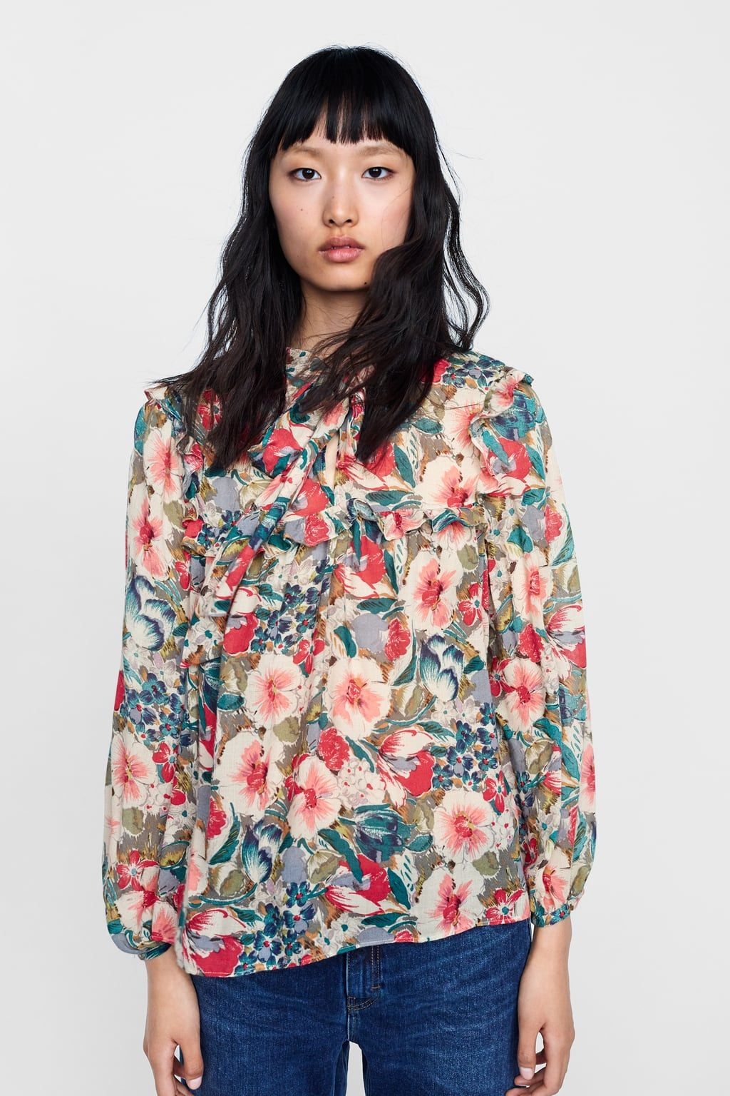 Image 2 Of Floral Print Blouse From Zara Floral Print Blouses