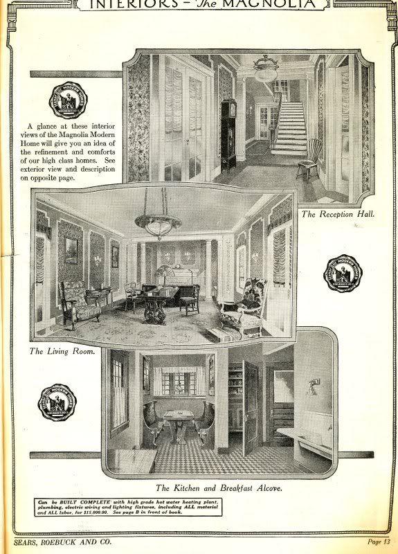 Sears Magnolia - as seen in the 1922 catalog- Interior of Magnolia ...