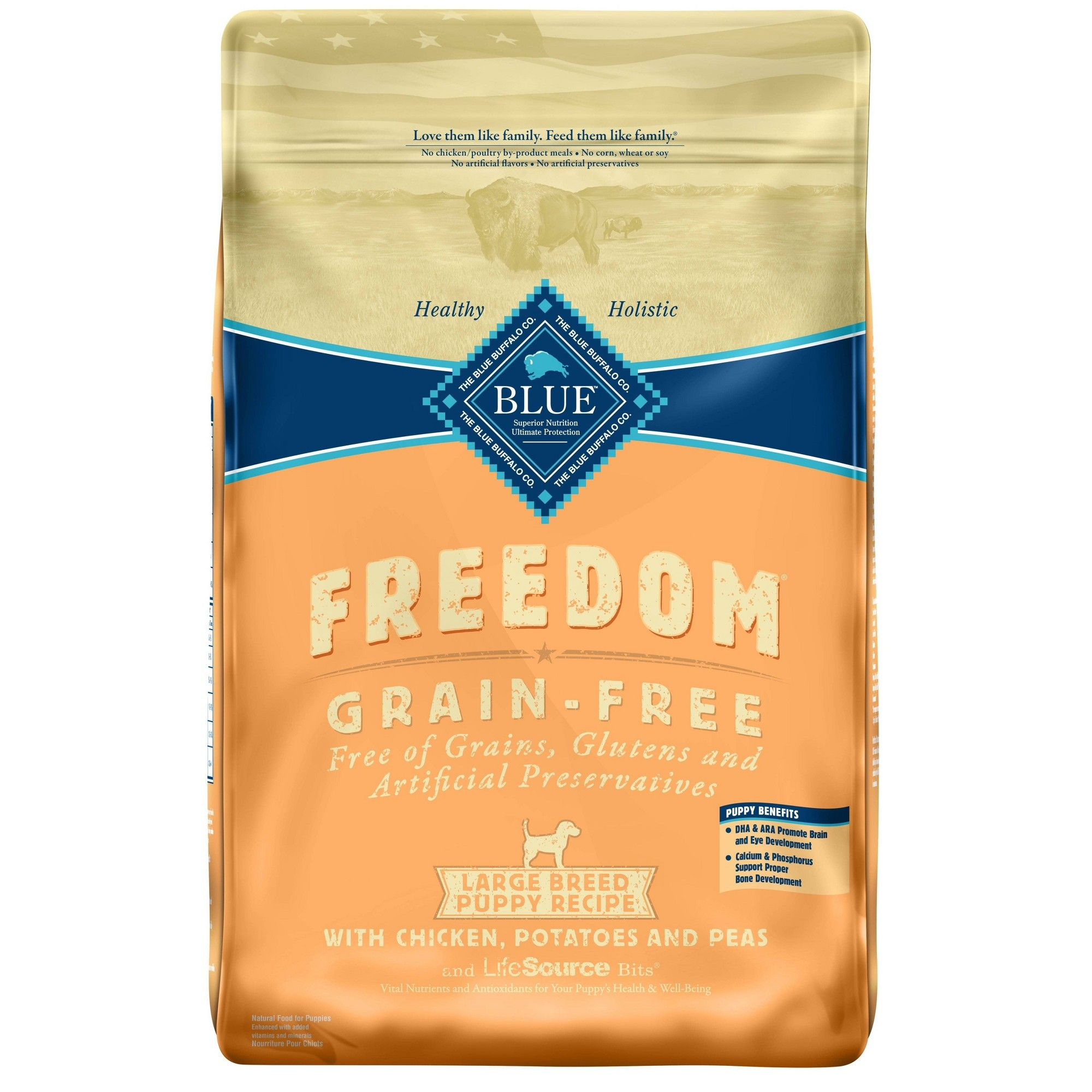 Blue Buffalo Freedom Large Breed Puppy Chicken Dry Dog Food 24lb