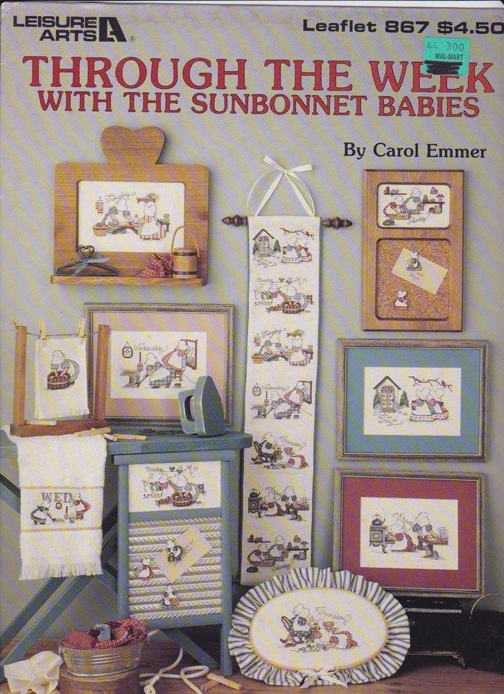 Cross Stitch Patterns, Leisure Arts Leaflet #867, Sunbonnet Babies ...