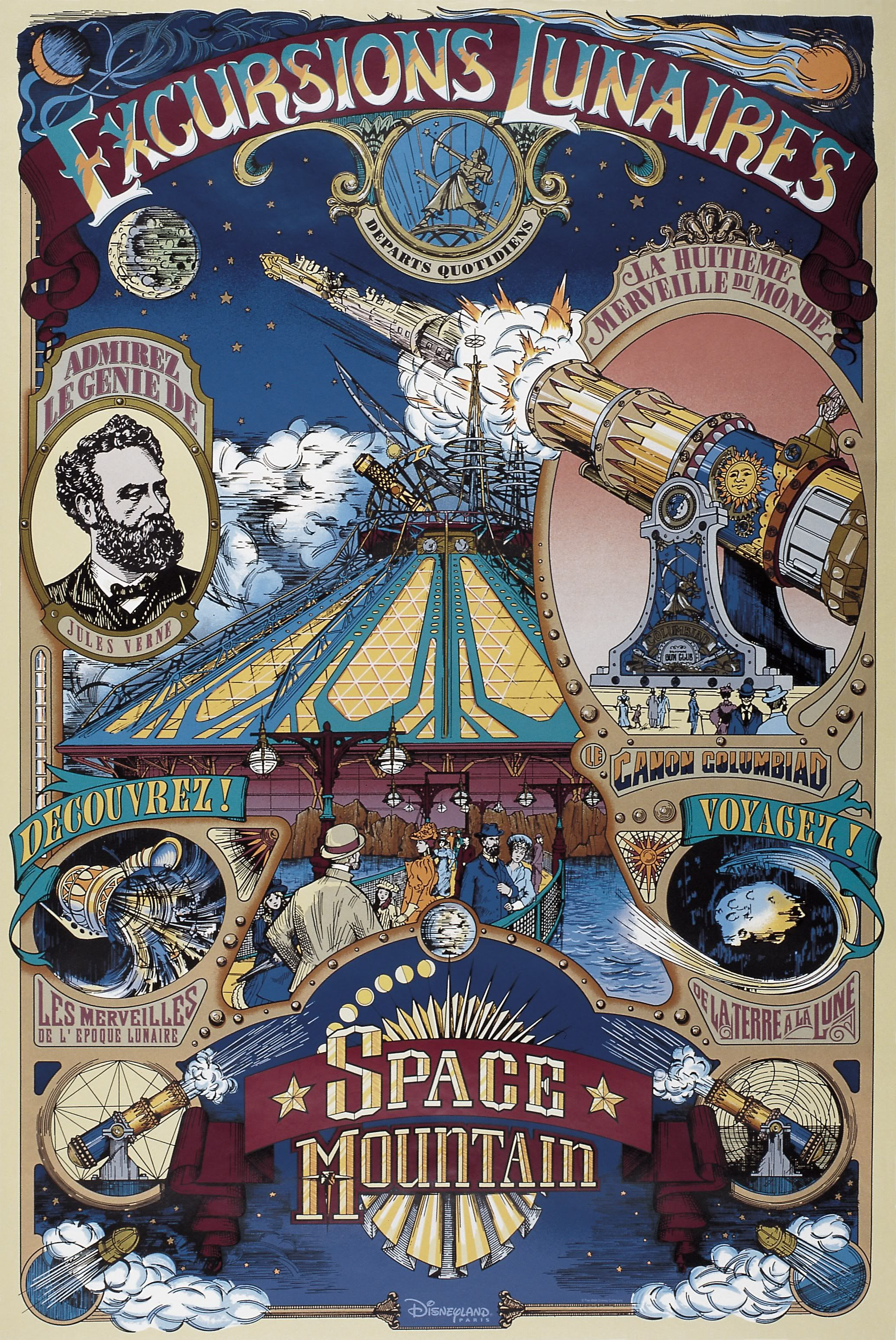 Disney world posters vintage new disney book will for Salon pixar paris