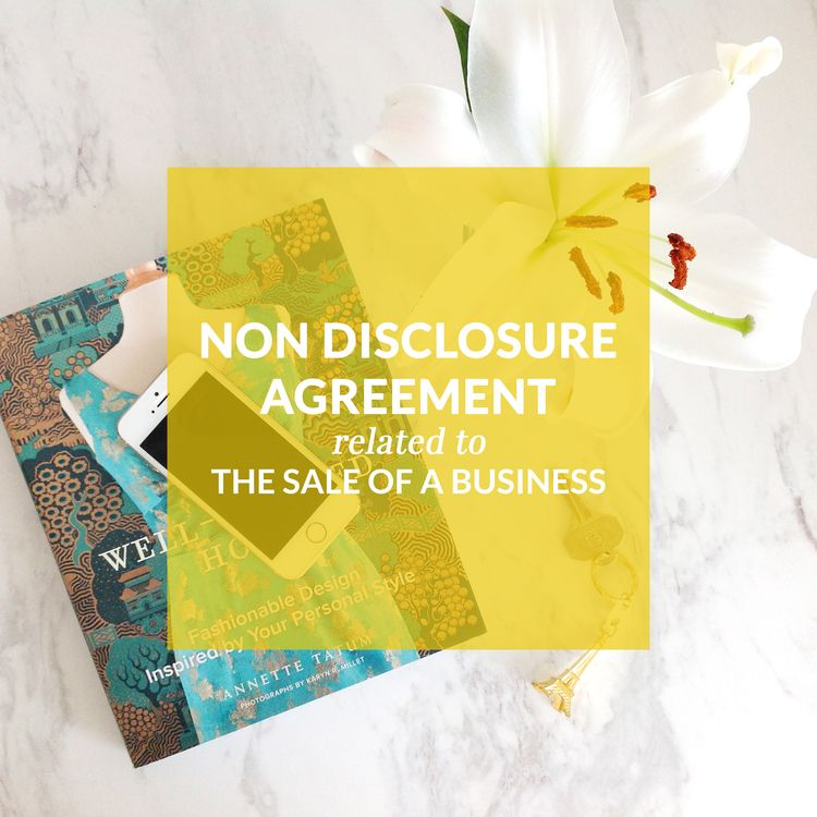 Non Disclosure Agreement; Template Contract; Agreement; Contract - non disclosure agreements