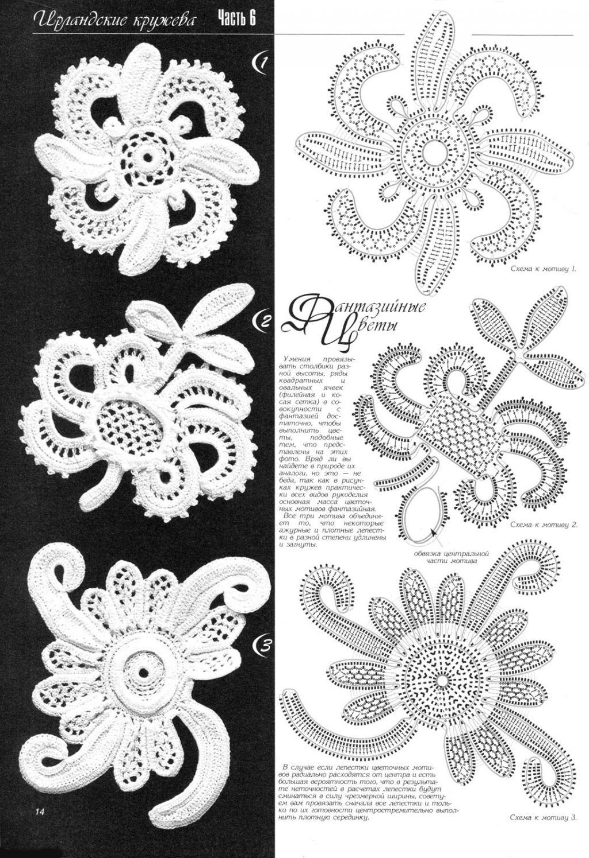 irish crochet motifs | Irish crochet... | Pinterest | Crochet motif ...