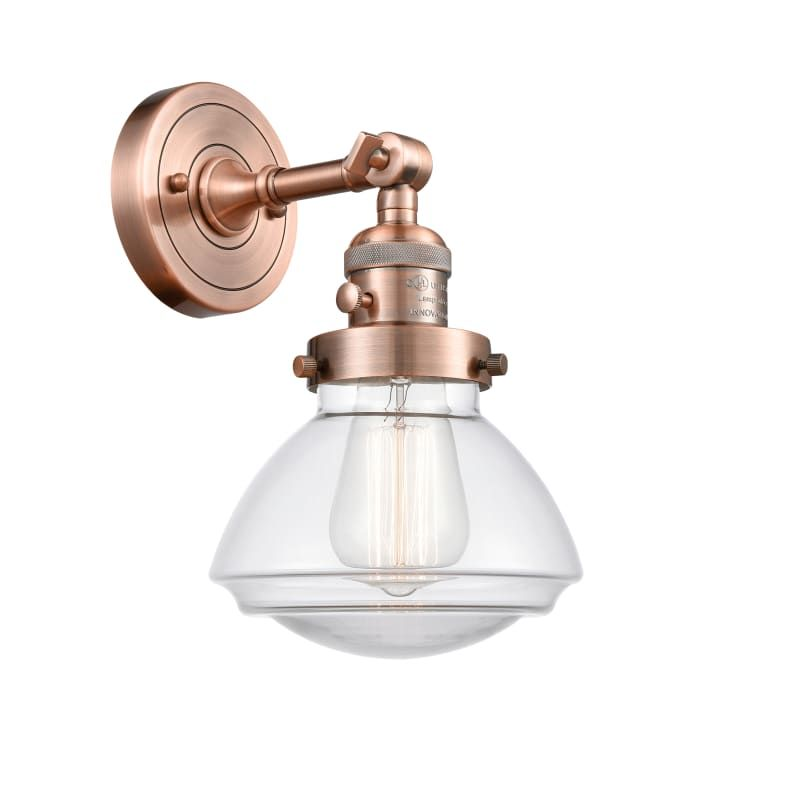 """Photo of Innovations Lighting 203SW Olean Olean 8 """"high bathroom light Antique copper / Clear interior lighting Bathroom fittings Bathroom light"""
