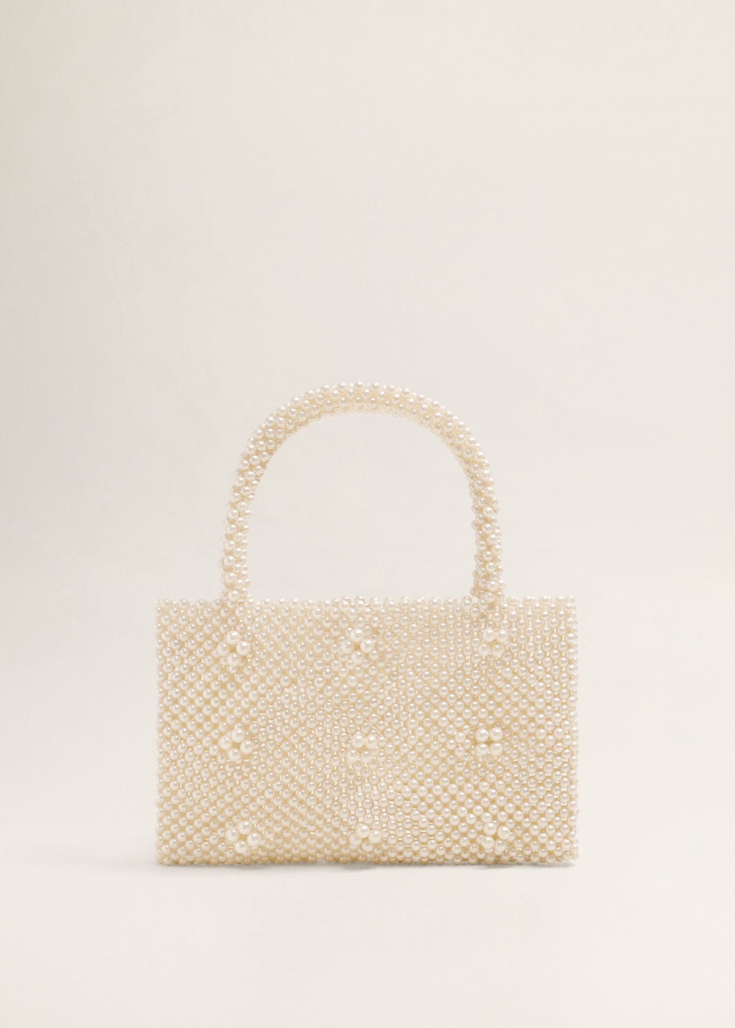 Mango Pearls Bag - White