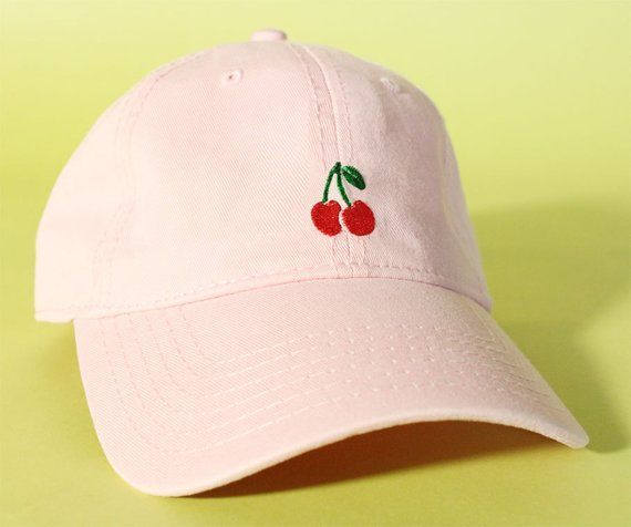 NEW Peach Dad Hat Baseball Cap low profile 100 % by BrainDazed ... 2f96d3579f49