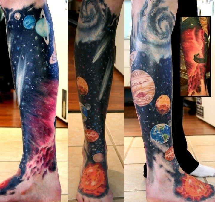 Dazzling Space Tattoos Imprimación Tatuajes Brazo Tatuajes De