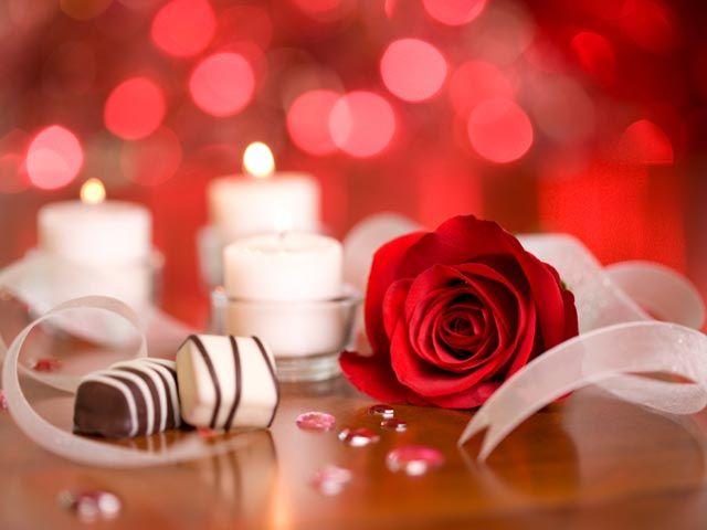 Romantic night at home
