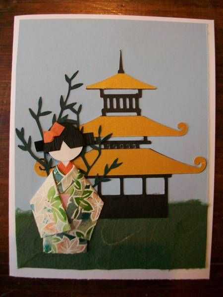 Origami Geisha Doll Card By Stampingooddeeds Cards And Paper
