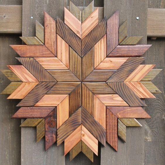 Murales de madera para el hogar